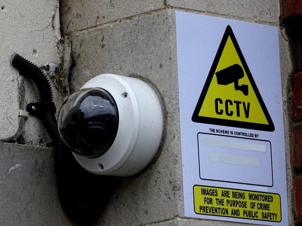 cctv camera and warning sign 1