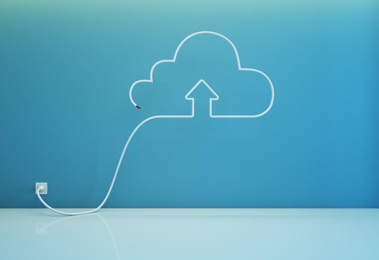 Power line in cloud shape