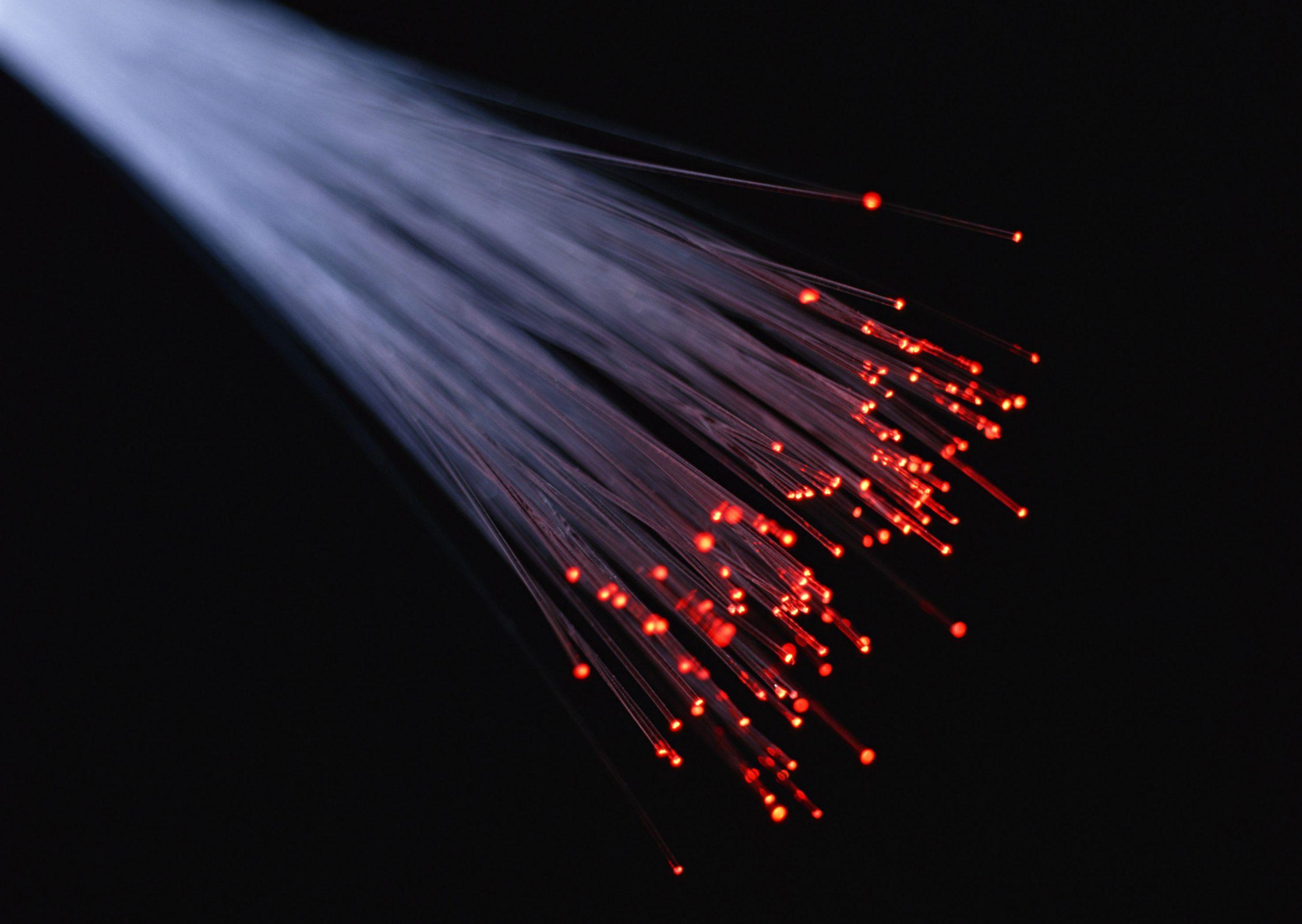Fiber optics closeup