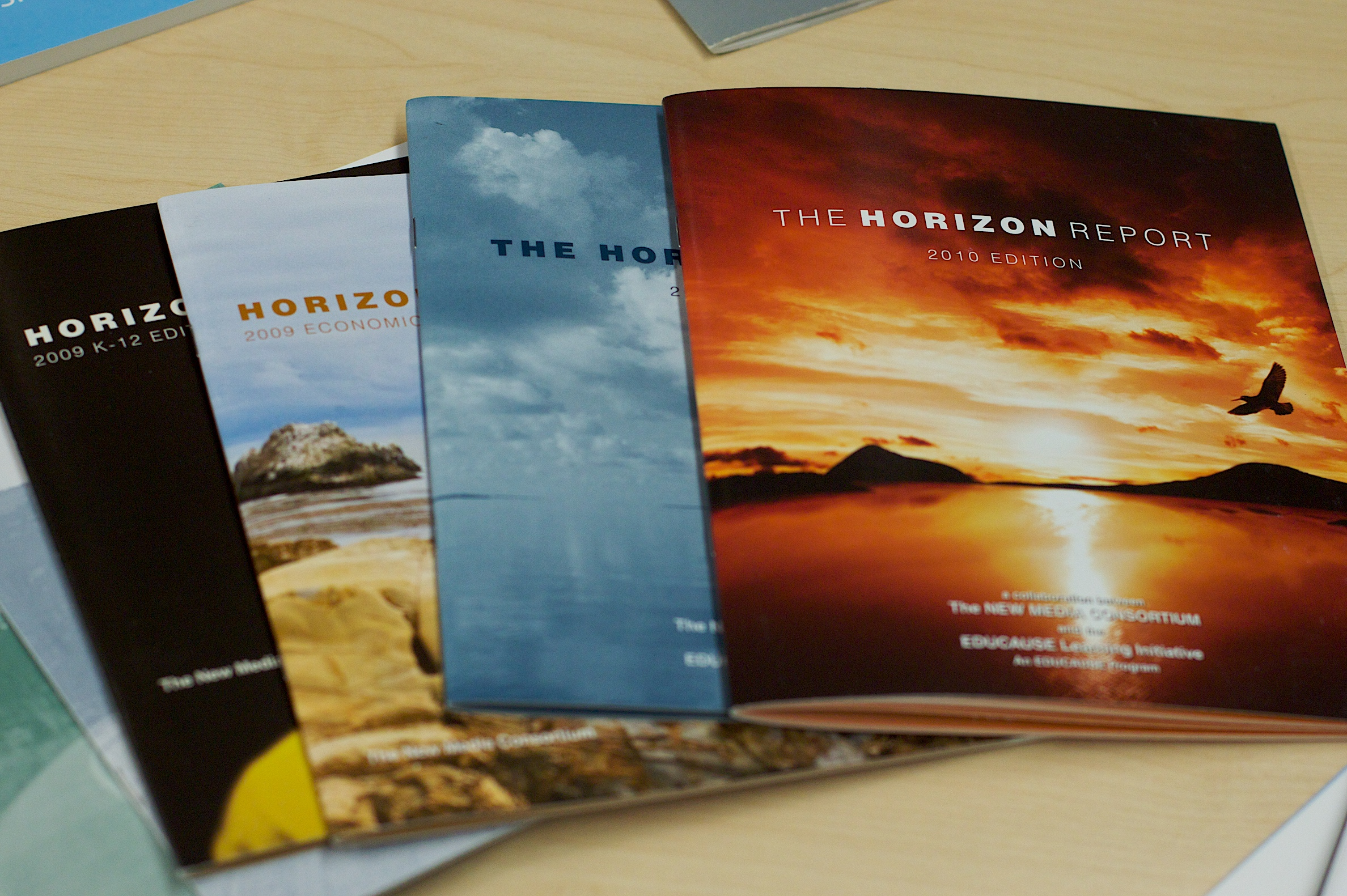 Colourful booklets produced by commercial printers