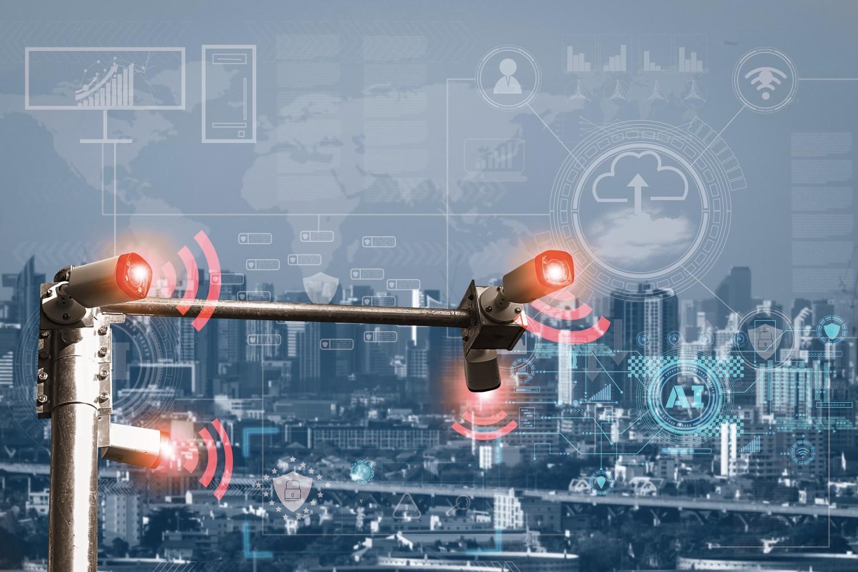 security cameras installed around a city