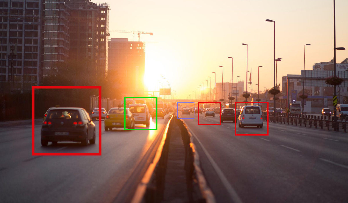 smart CCTV monitoring traffic on freeway