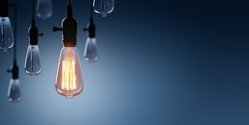 a collection of light bulbs - one of them is powered by solar solutions.
